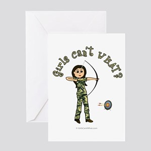 Light Camouflage Archery Greeting Card
