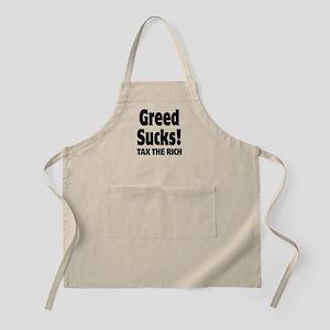 Greed Sucks Tax The Rich Apron