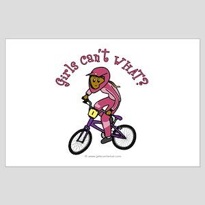 Dark Pink BMX Large Poster
