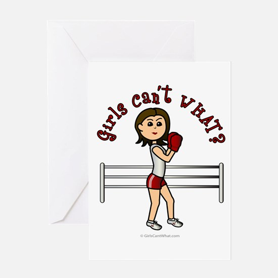 Light Red Boxer Greeting Card