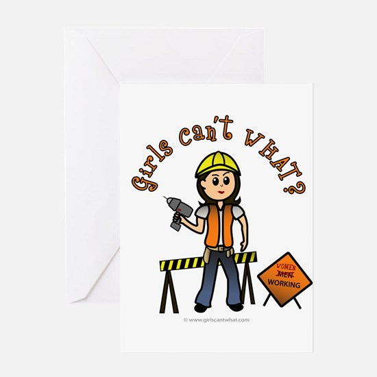 Light Construction Worker Greeting Card