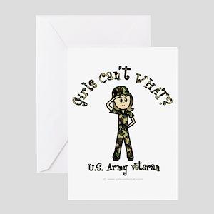 Light Army Veteran Greeting Card
