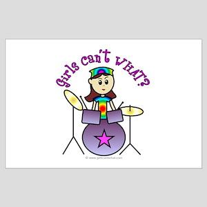 Light Girl Drummer Large Poster