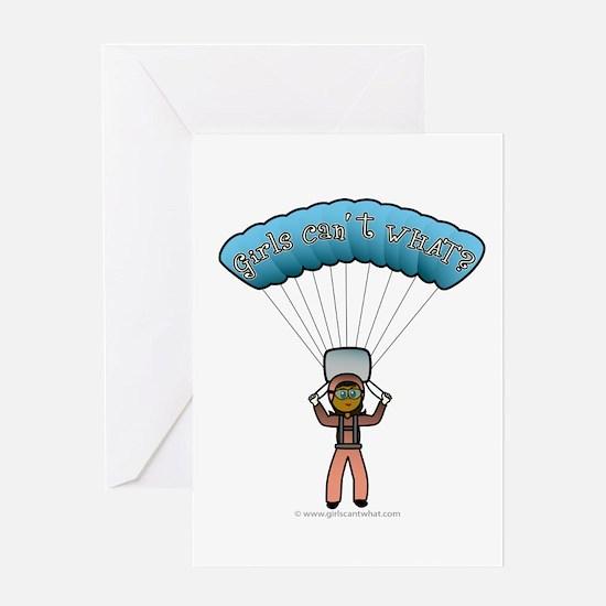 Dark Sky Diver Greeting Card