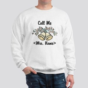 Custom Just Married (Mrs. Name) Sweatshirt
