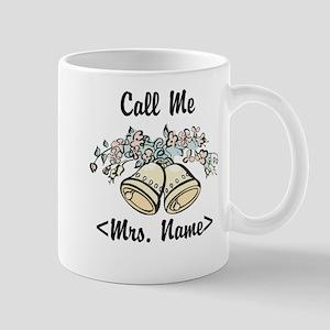 Custom Just Married (Mrs. Name) Mug
