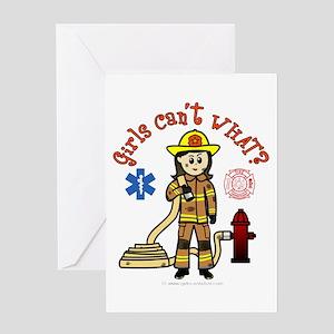 Custom Firefighter Greeting Card