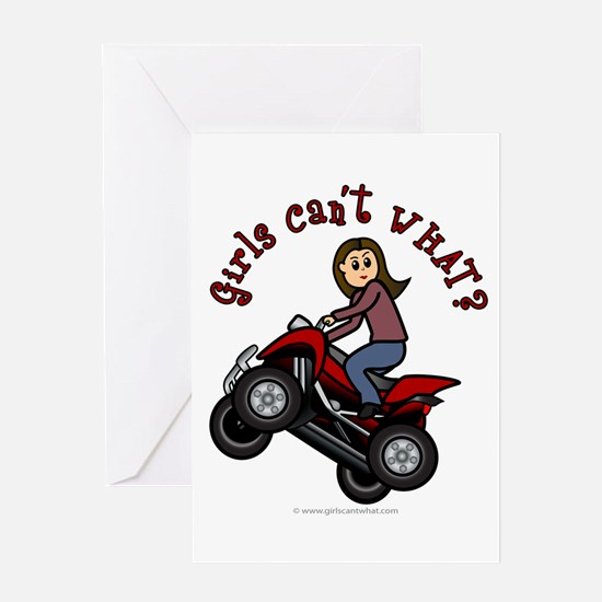 Light Skin ATV/Four-Wheeling Greeting Card