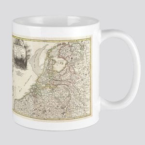 Vintage Map of Holland and Belgi 11 oz Ceramic Mug