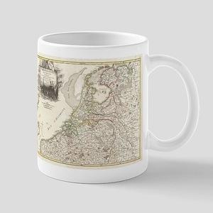 Vintage Map of Holland and Belgi 11 oz Ceramic Mug