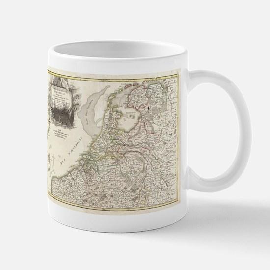 Vintage Map of Holland and Belgi Mug