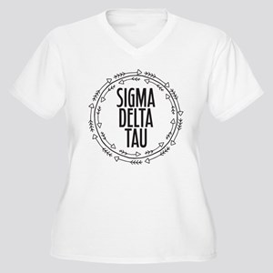 Sigma Delta Tau A Women's Plus Size V-Neck T-Shirt