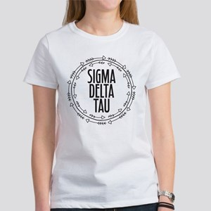 Sigma Delta Tau Arro Women's Classic White T-Shirt