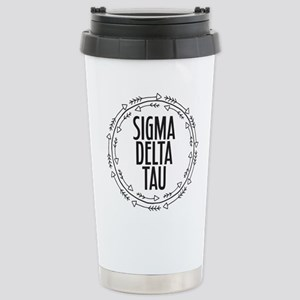 Sigma Delta Tau A 16 oz Stainless Steel Travel Mug