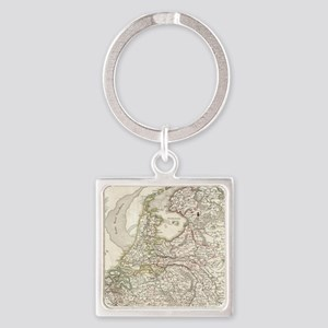 Vintage Map of Holland and Belgium (1775 Keychains