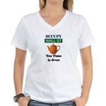 Tea Time is over Women's V-Neck T-Shirt