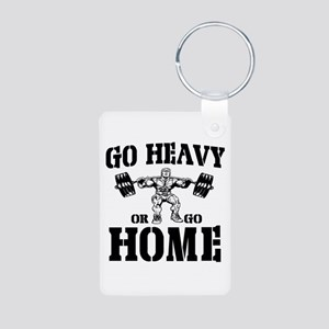 Go Heavy Or Go Home Weightlifting Aluminum Photo K