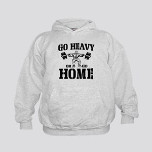 Go Heavy Or Go Home Weightlifting Kids Hoodie