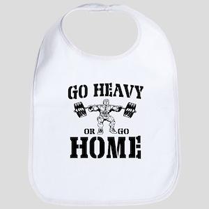 Go Heavy Or Go Home Weightlifting Bib