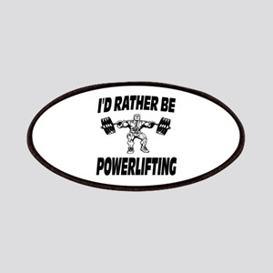 I'd Rather Be Powerlifting Weightlifting Patches