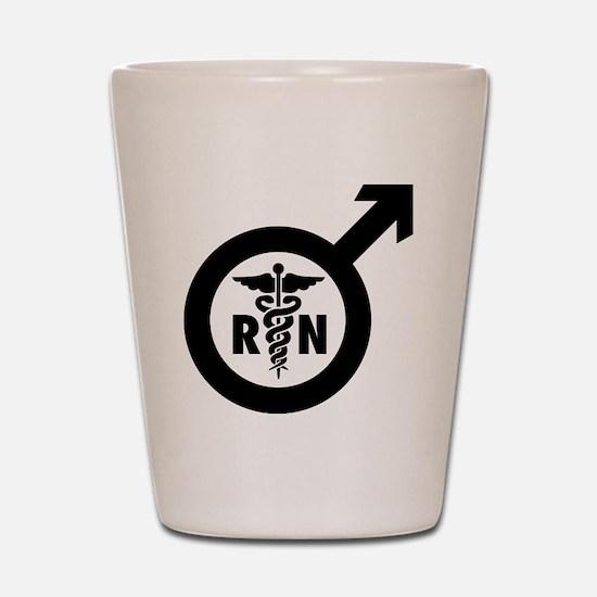 Murse Male Nurse Symbol Shot Glass