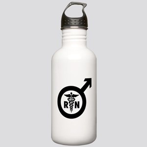 Murse Male Nurse Symbol Stainless Water Bottle 1.0