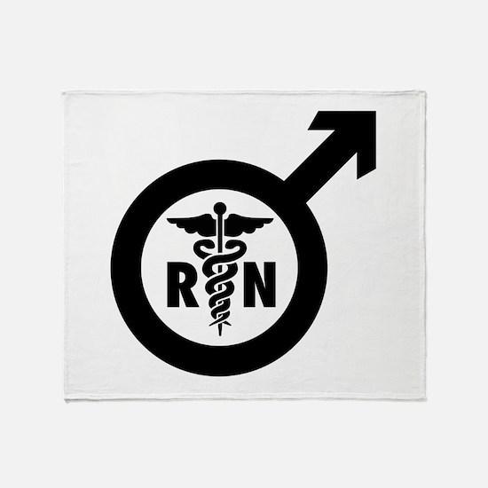 Murse Male Nurse Symbol Throw Blanket