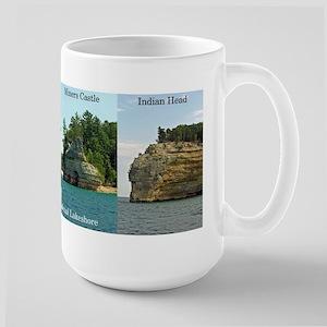 Pictured Rocks National Lakeshore Large Mugs