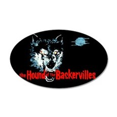 Hound of the Baskervilles 22x14 Oval Wall Peel