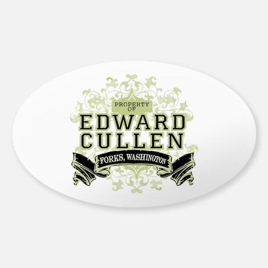 Property of Edward Cullen Sticker (Oval)