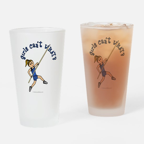 Pole Vault - Blue (Light) Drinking Glass