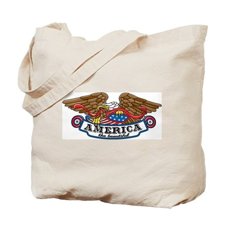 America the Beautiful Eagle Tote Bag