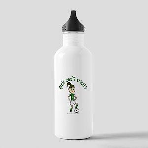 Light Green Soccer Stainless Water Bottle 1.0L