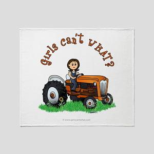 Light Orange Farmer Throw Blanket