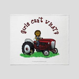Dark Red Farmer Throw Blanket