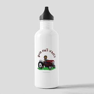 Dark Red Farmer Stainless Water Bottle 1.0L