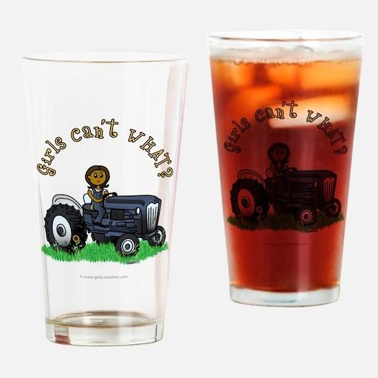 Dark Blue Farmer Drinking Glass