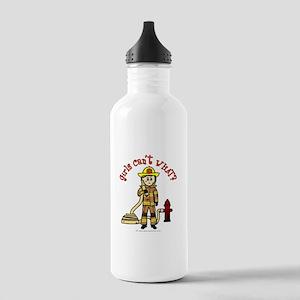 Blonde Firefighter Girl Stainless Water Bottle 1.0