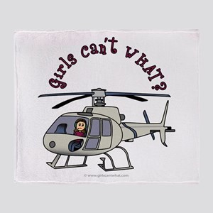 Light Helicopter Pilot Throw Blanket