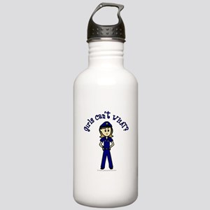 Light Police Woman Stainless Water Bottle 1.0L