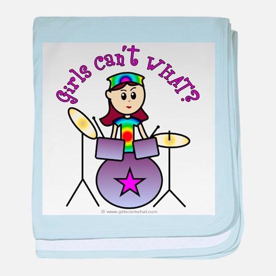 Light Girl Drummer baby blanket