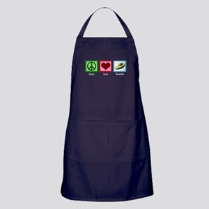 Peace Love Avocado Apron (dark)