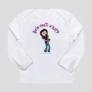 Light Saxophone Player Long Sleeve Infant T-Shirt