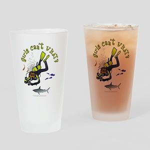 Dark Diver Drinking Glass