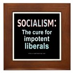SOCIALISM: For Impotent Liberals Framed Tile