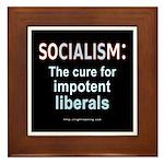 SOCIALISM: For Impotent Liberals Framed Tile