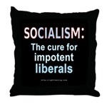 SOCIALISM: For Impotent Liberals Throw Pillow