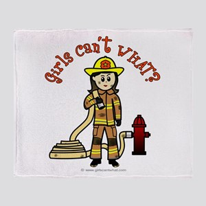 Personalized Firefighter Throw Blanket
