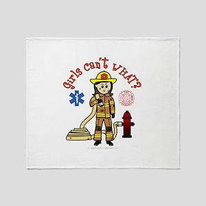 Custom Firefighter Throw Blanket
