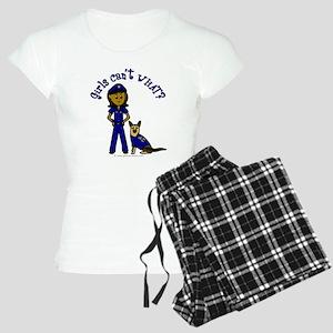 Dark K-9 Police Women's Light Pajamas